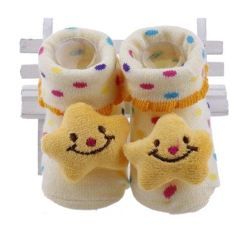Bigood Chaussures Chaussons Chausettes Bébé Coton Antidérapant