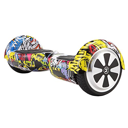 "Megawheels Hoverboard 6.5\"" Smart Balance Scooter E-Skateboard Monopattino Elettrico con 2 * 250W Motore, Bluetooth, LED(Hip-Pop)"