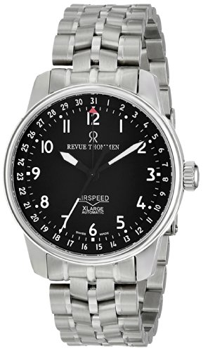 Revue Thommen Men's 16050-2137 Airspeed XLarge Automatic Black Dial Watch