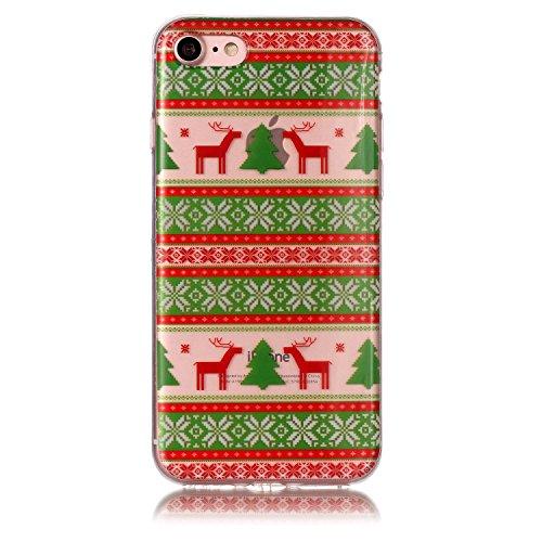 Cover iPhone 6/iPhone 6s, KSHOP silicone cover con Disegno di tema di natale, sottile morbide bumper custodia per iPhone 6/iPhone 6s - ophone renna di cartone animato Natale 05
