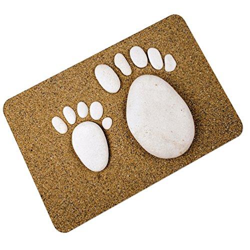 YOUJIA Fußmatte Kopfsteinpflaster Muster Sauberlaufmatte Fußabstreifer Türfußmatte Eingangsmatte Türmatte (Stein #5, 45 * 75cm)