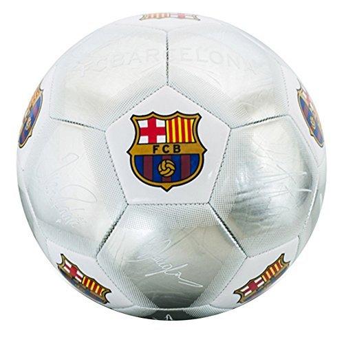 FC Barcelone Officiel Argenté Signature Cimier Football (Size 5)