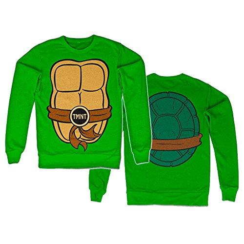 TMNT Costume Sweatshirt (Green), (Kostüme Uk Ninja Turtles)