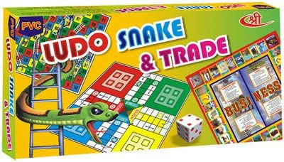 Kids Mandi TM Ludo Snake and Business Trade 3 in 1 Game for Kids (Medium Size)