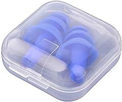 Babysbreath Un Par de Tapones de Oído de Silicona Anti Ruido Ronquidos Tapones para los oídos Tapa Reducción de Ruido para Estudio