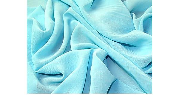 Uni Polyester yoryu Chiffon Kleid Stoff, Meterware, Türkis  Amazon.de   Küche   Haushalt 42e93b6bab