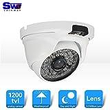 SW 1200TVL Caméra de vidéosurveillance dôme pour extérieur jour et nuit IR avec 3,6mm angle de vue large 48LED