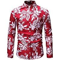Camisa de Manga Larga con Estampado de Manga Larga y Blusa Superior