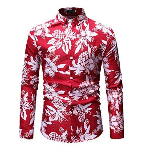 Tohole Button Print Stitching Revers Langärmliges Hemd Kurzarm T-Shirt Ausschnitt Kapuzenpullover Herren Pullover Sweatjacke Slim Kapuzenshirt Langarm Hoodie Sweatshirts