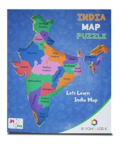 India Map Puzzle.Multi Coloured Foam Puzzle India Map Durable Toy Fashion Exclusives