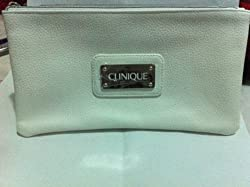 Clinique Macy's Jenna's Essentials White Leather Pouch Bag