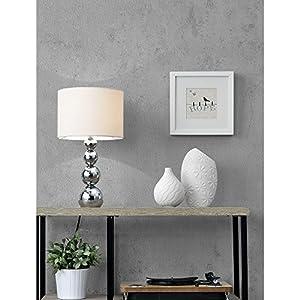 """[lux.pro] Tischleuchte """"Snow"""" (43cm x Ø 25cm) Tischlampe Nachttischlampe Schreibtischlampe (1 x E14 Sockel)"""