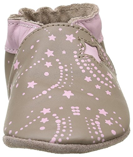Robeez Baby Mädchen Milky Way Krabbelschuhe Beige - Beige (Beige)