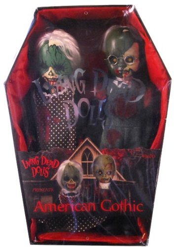 Mezco Toyz Living Dead Dolls 2Pack American Gothic Bloody Version (Living Doll Gothic American Dead)