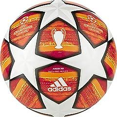 Idea Regalo - adidas Finale J350 - Pallone da Calcio da Uomo, Colore: Bianco/Rosso Scarlatto