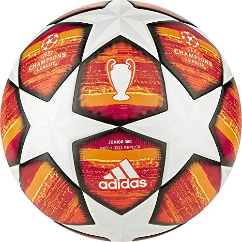 free shipping b45c1 5822a adidas Finale J350 - Pallone da Calcio da Uomo, Colore BiancoRosso  Scarlatto