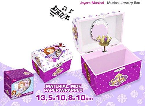 Die musikalische Prinzessin Sofia Schmuckkästchen mit Form Gastgeschenke (Kids Euroswan wd91060) - Schmuck-box Musikalische