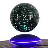 LUYR.R® Upscale Décoration Cadeau Globe Flottant à Levitation magnétique 6 Pouces Carte du Monde Intelligent Coloré Lumière LED, Black