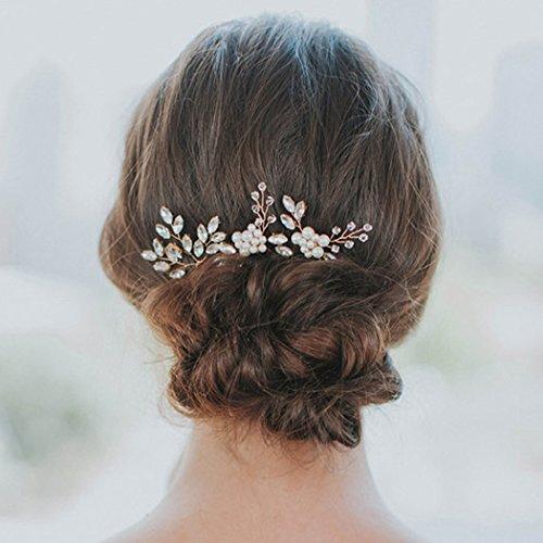 Yean pasadores de pelo de novia boda pelo Clips accesorios para las mujeres  y las niñas d6060a65add6