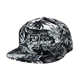 WITHMOONS Baseballmütze Mützen Caps Kappe Summer Palm Tree Pattern Baseball Cap Snapback Hat CR2753 (Black)