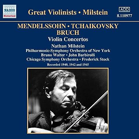 Concertos Pour Violon : Mendelssohn, Bruch,