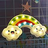 Xiyunte luce notturna LED lampade da parete per bambini luci notturne Art déco A-a-rainbow
