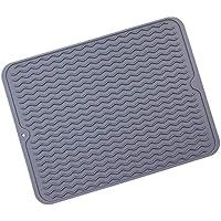 F-blue Tabla Mesa Resistente de Silicona Resistente al Calor Mat Plegable Mostrador cojín de la Cocina casera Mantel, 40x30cm, profundamente Gris
