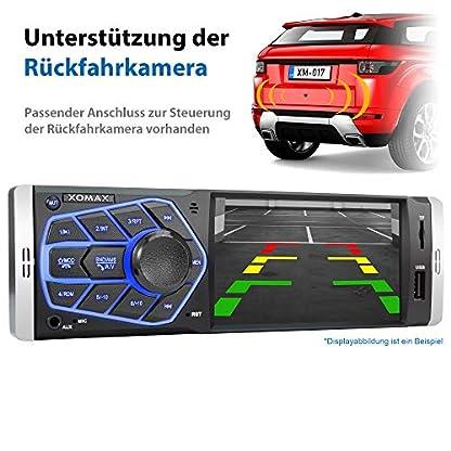 XOMAX-Autoradio-mit-4-Zoll-Bildschirm