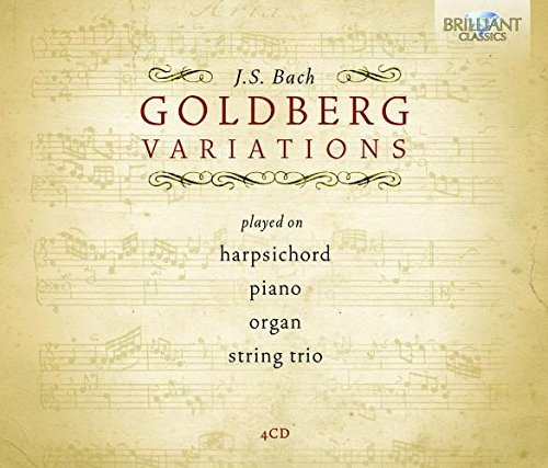 Bach: Goldberg Variations played on Harpsichord, Piano, Organ and by String Trio by Belder (2013-07-30)