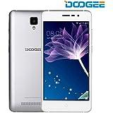 Smartphone ohne vertrag, DOOGEE X10 Dual SIM Android 6.0 handy, 5 Zoll HD Display, MT6570 Quad Core, 512M RAM + 8GB ROM - 2.0MP + 5.0MP Kamera - Raum Silber