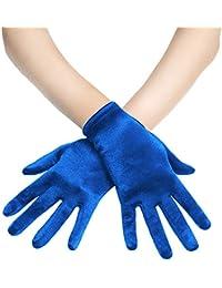 Coucoland Damen Handschuhe Satin Classic Opera Fest Party Audrey Hepburn Handschuhe 1920s Handschuhe Damen Lang Kurz Elastisch