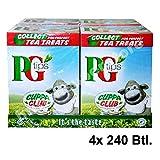 PG Tips 4x 240 Teabags - Schwarzer Tee im Pyramid®