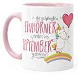 Geburtstags-Tasse die besten Einhörner werden im September geboren MoonWorks® Geschenk-Tasse rosa unisize - 2