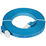 D-Link 10' Cat6 Blue Network Ethernet Flat Cable, 1-Pack (NCB-C6UF-30)