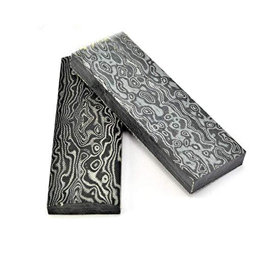 Aibote 2 stück Micarta Messer Griff Waagen Platten Messer Benutzerdefinierte DIY Werkzeug Material für Messerherstellung Blanks Klingen (120X40X10MM, Damaskus-Stil) -