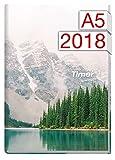 Chäff-Timer Classic A5 Kalender 2018 [Mountain View] 12 Monate Jan-Dez