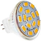 XMQC*11 4.5W 15x5730 310-320 2800-3000K Bombilla de foco LED de luz blanca (12-24V) , Cool white