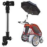 Teleskop-Schirmhalter mit einem Drehgelenk für Fahrrad, Rollstuhl, Kinderwagen, Angeln, Golftrolley, Rollator usw.