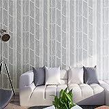 ZCHENG Wald 3D Fototapete Birken-Baum-Muster-Holz-Wandpapierrolle moderne einfache Tapeten-Entwurfs-Schwarz-Weiß graues Papel De Parede, A