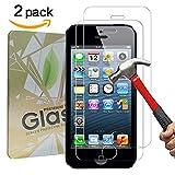 [2 Stück] iPhone SE / 5S / 5C / 5Schutzfolie,GYOYO Panzerglas Displayschutzfolie, Panzerglas Schutzfolie, 3D Touch Kompatible, Schutz vor Wasser,Anti-Kratzen, Anti-Öl, Anti-Bläschen, schutzfolie für iPhone SE / 5S / 5C / 5