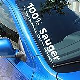 Finest Folia FS12 Frontscheibenaufkleber 100% Sauger (Schwarz Glanz, Innenklebend)