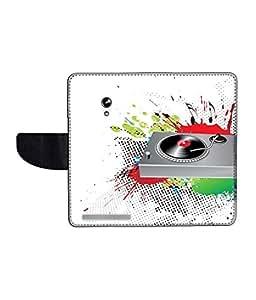 KolorEdge Printed Flip Cover For Asus Zenfone 4 A450CG Multicolor - (45KeMLogo11988Zen4A450CG)