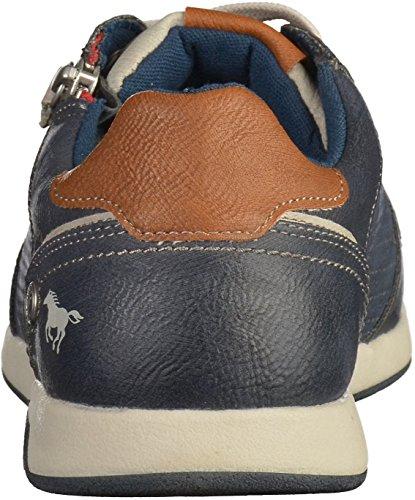 Mustang 4114-302 hommes Baskets Bleu