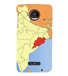 ifasho Designer Back Case Cover for Motorola Moto Z Force :: Motorola Moto Z Force Droid for USA ( Map Poster Map Dreamland Map Large Map Gps)