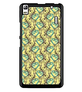 PrintDhaba Pattern D-5328 Back Case Cover for LENOVO A7000 TURBO (Multi-Coloured)