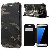 Samsung Galaxy S7 Edge G935 Handy Tasche Outdoor Flip Case TPU Hybrid Camouflage Army Schutz Hülle Etui Grün