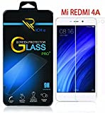 RICH e Xiaomi Redmi 4A Tempered Glass Screen Protector Screen to Screen Fit 9H Hardness Bubble Free Anti-Scratch Crystal Clarity 2.5D Curved Screen Guard for Xiaomi Redmi 4A