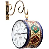 Vintage Clock Handicraft Hand-Painted Iron Clock