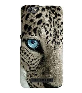 FUSON Blue Eye Leopard Face 3D Hard Polycarbonate Designer Back Case Cover for Lenovo Vibe C :: Lenovo A2020