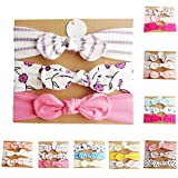 #4: LQZ 3PCS/Set Multicolor Baby Girl Soft Headband with Bowtie Flower Princess Hairband
